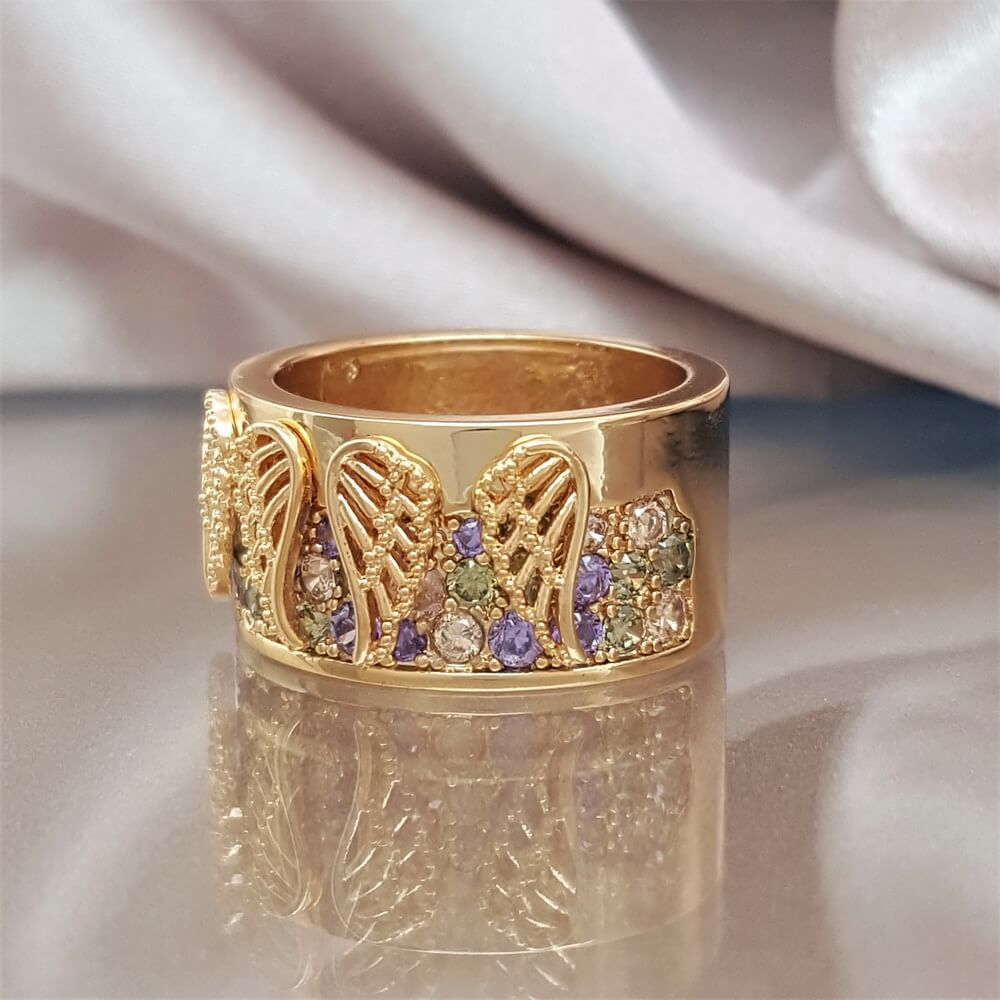 Angel Wings of Protection Ring