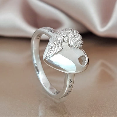 A Piece of My Heart is in Heaven Angel Ring