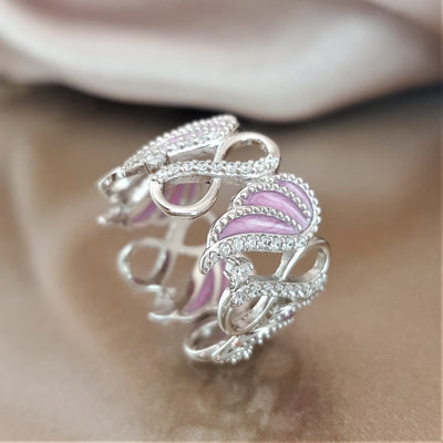 Always Cherished Angel Wing Ring