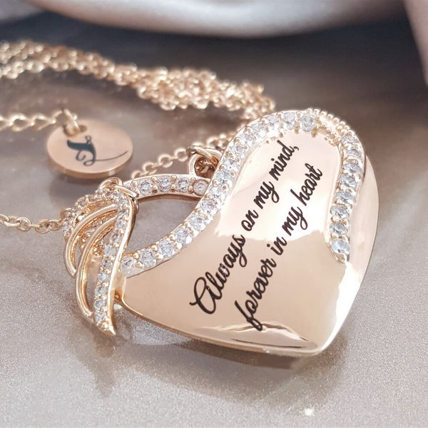 ebe87d23b ... Heart Angel Wing Necklace. $35.00 $49.00 30 Reviews
