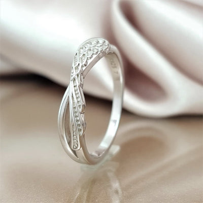 Angel's Touch Wing Ring
