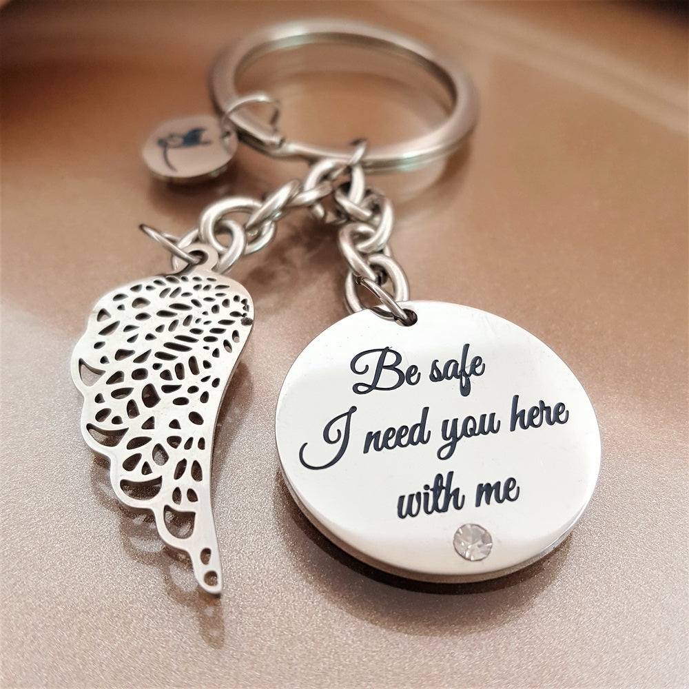 Be Safe Guardian Angel Keychain