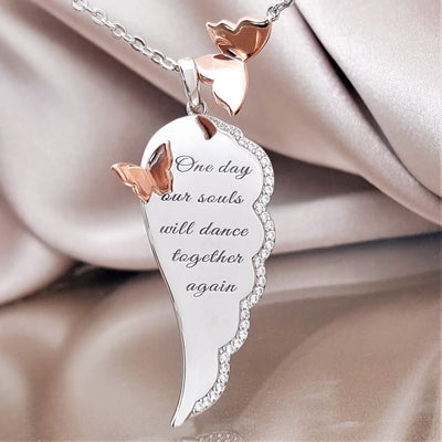 Together in Eternity Angel Wing Necklace (Item backordered)