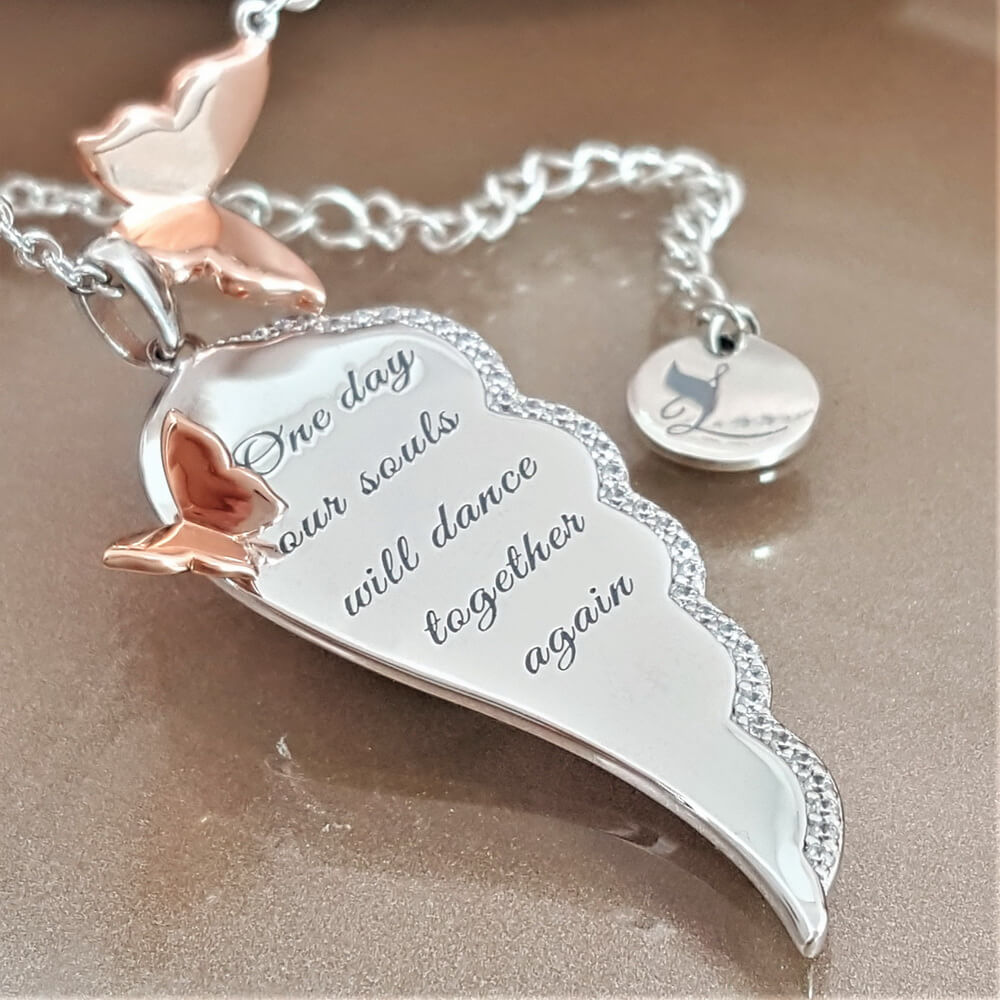 Together in Eternity Angel Wing Necklace