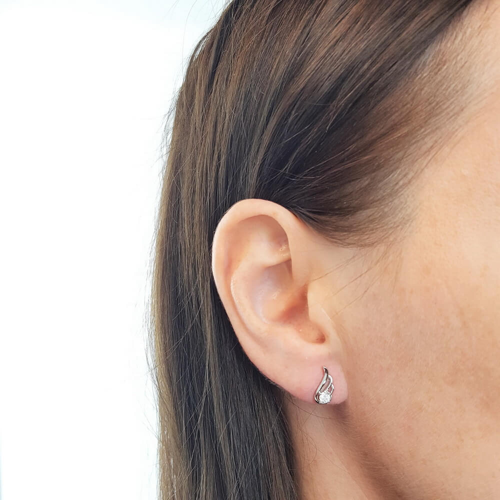 Endearing Angel Wing Earrings