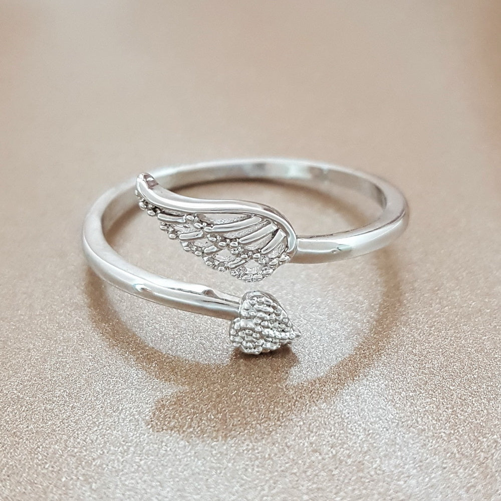 on angel stones royal shop rings online buy ring serafina wings handmade clinochlore ornamental livemaster item