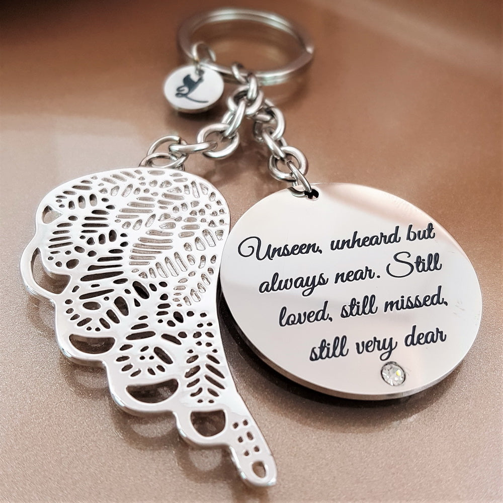 Forever Dear Angel Wing Keychain