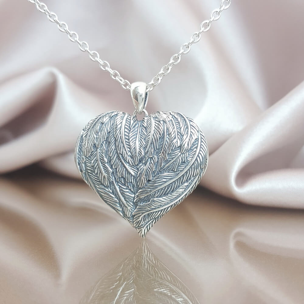 On My Mind, In My Heart Angel Wing Locket