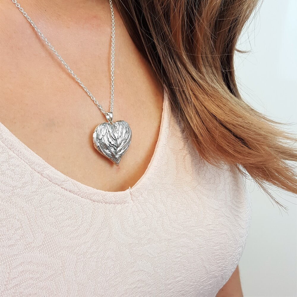 You'll be in My Heart Forever Angel Wing Locket