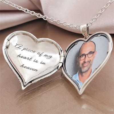 My Heart is Always With You Angel Wing Locket