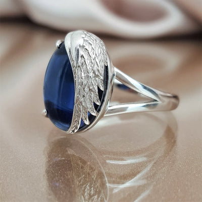 Never More Than a Thought Away Angel Wing Ring