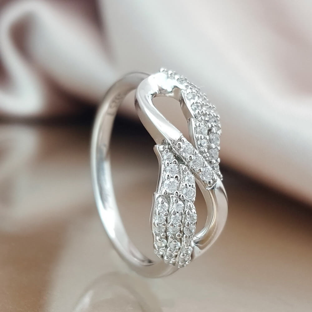 d62b47676 Our Love is Forever Angel Wing Ring - Linda's Stars