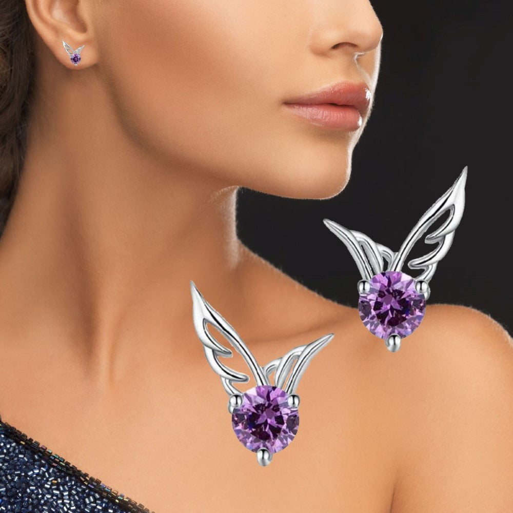 Blissful Angel Wings Stud Earrings
