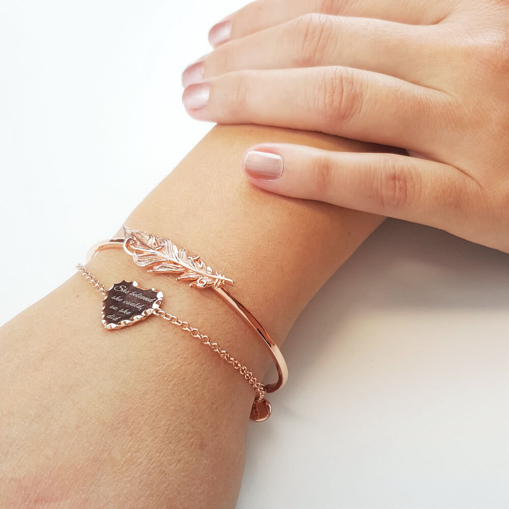 Strong With Purpose but Light at Heart Angel Bracelet