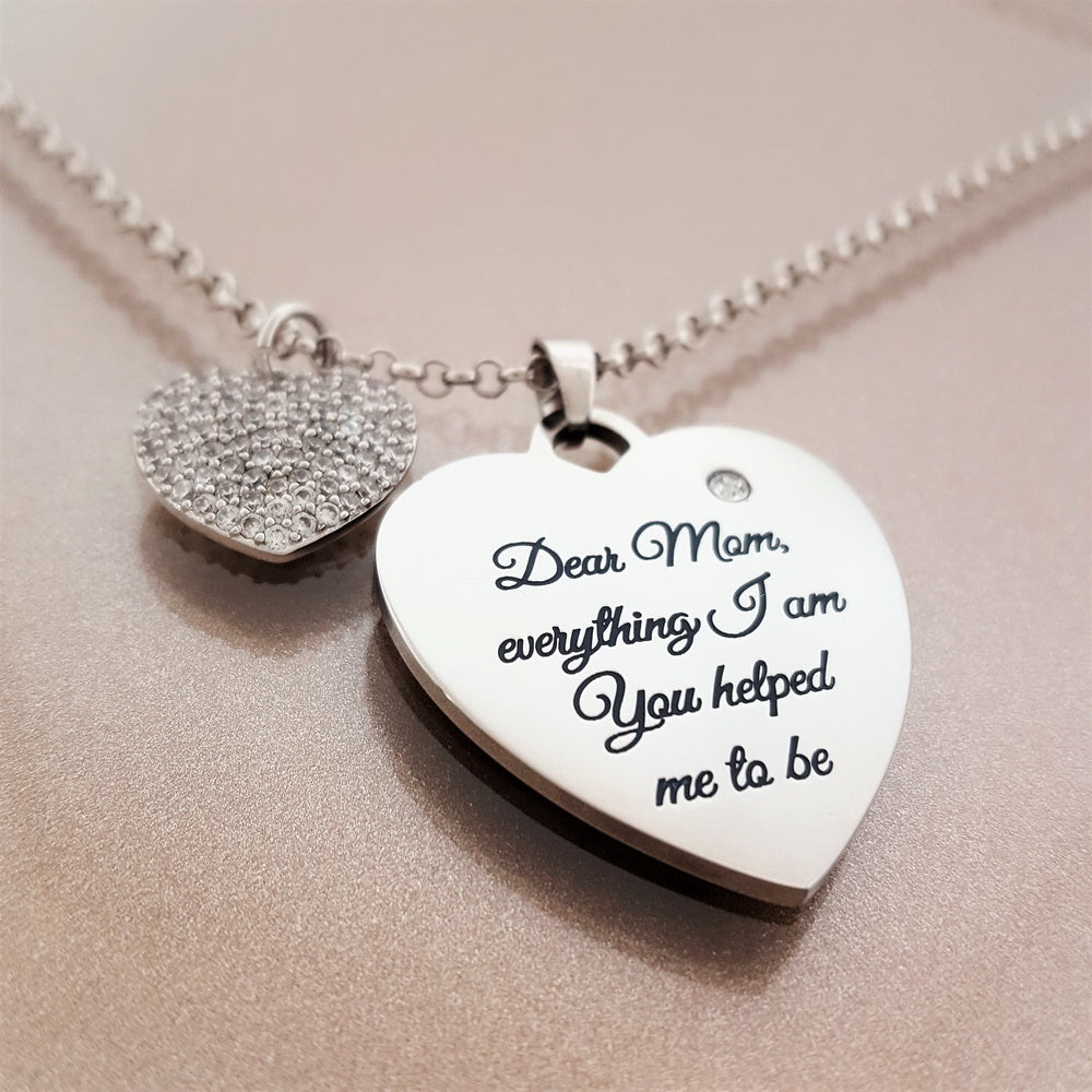 To My Mom With Love Necklace