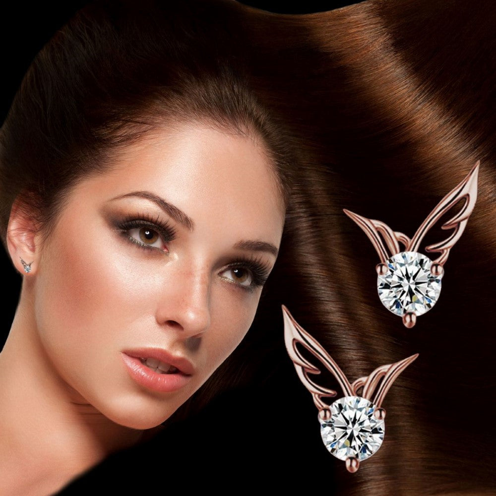 10 PACK: Rose Gold Angel Wings of Clarity
