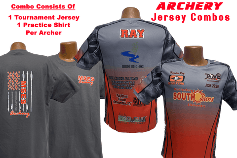 1/4 Zip Banded Collar Archery Jersey and Practice Shirt Combo (Team Pricing for 12+ Jerseys) - Dove Designs Pro