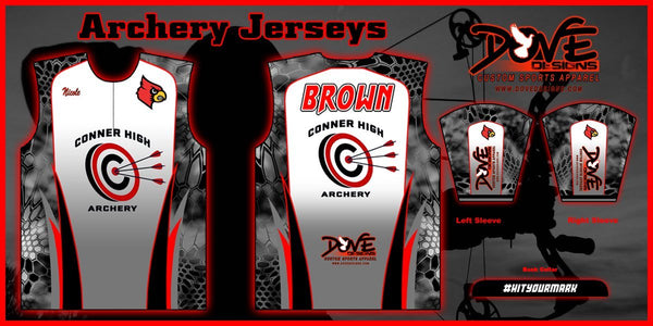 1/4 Zip Banded Collar Archery Jersey (Team Pricing for 12+ Jerseys) - Dove Designs Pro