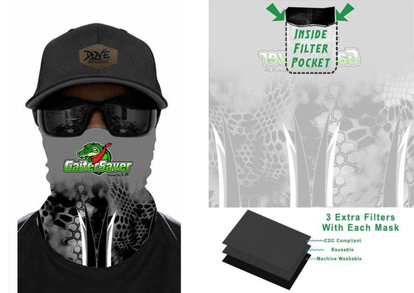 GaiterSaver Filtered Neck Gaiter Warm Weather - Dove Designs Pro