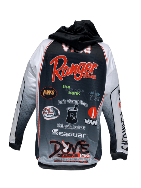 Hooded Fishing Jersey (Individual Pricing for Prostaff Only) - Dove Designs Pro