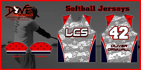 Softball Jersey (Team Pricing for 12+ Jerseys) - Dove Designs Pro