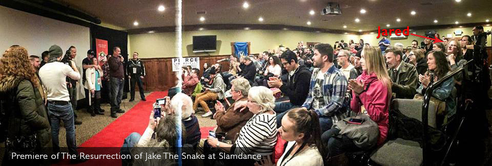Jared attending the Slamdance Film Festival Screening of The Resurrection of Jake The Snake