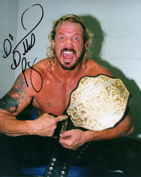DDP Signed Autographed Photo - DDP 2nd World Champion Belt