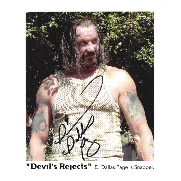 DDP Signed Autographed Photo Billy Ray Snapper in Devils Rejects