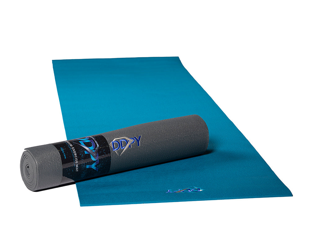 "DDP Yoga 85"" Embroidered Premium Mat Moroccan Blue"