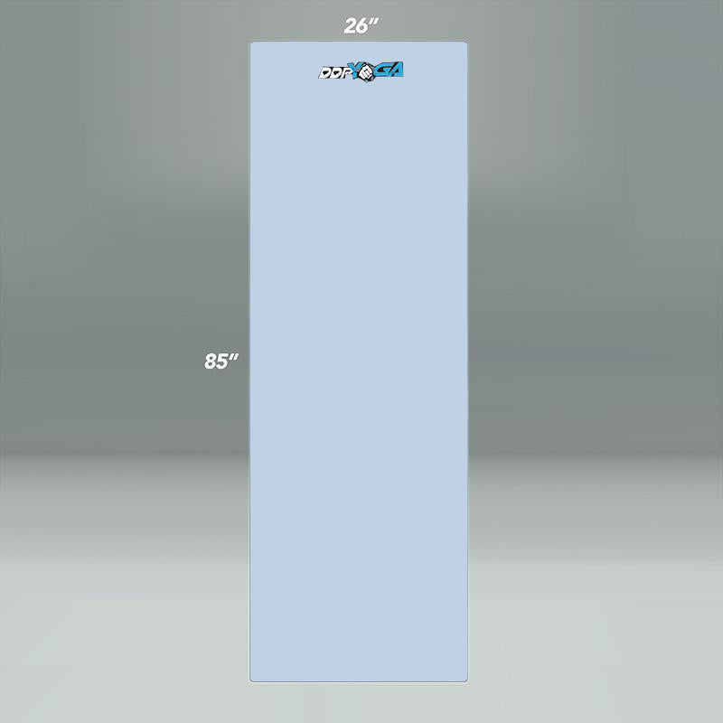 "DDP Yoga 85"" Embroidered Premium Mat Light Blue"