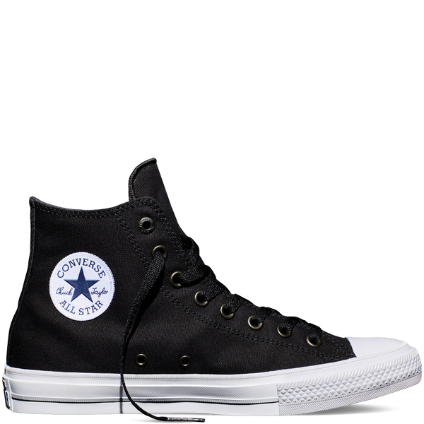 converse chuck 2 high black white