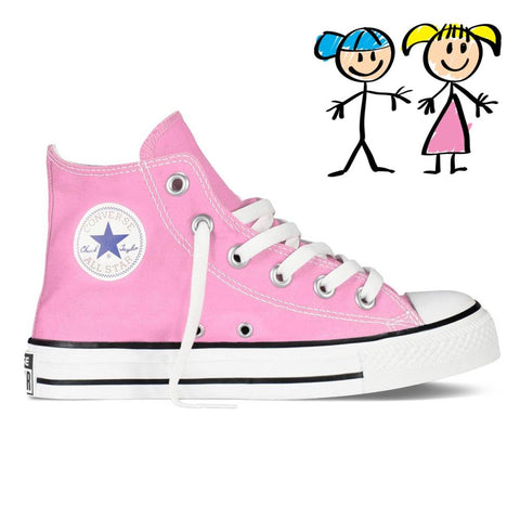 converse shoes clipart. converse kids chuck taylor all star hi - pink shoes clipart