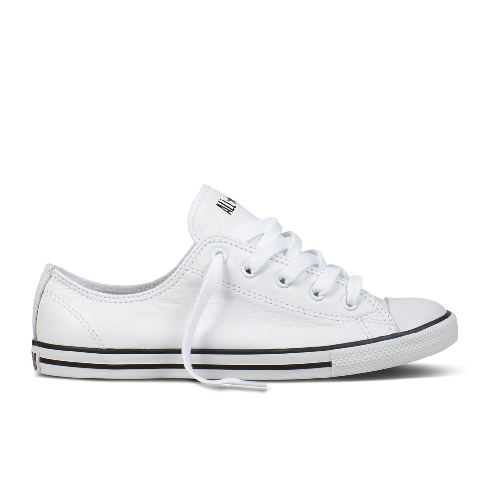 Converse - Chuck Taylor Dainty Ox Leather - White - Womens