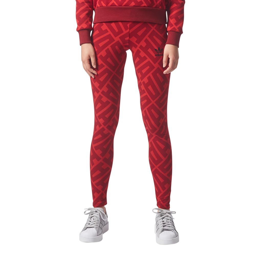 adidas Originals - AOP Leggings - Red - Womens