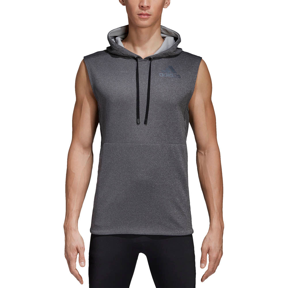 adidas - Workout Hoodie - Grey - Mens – Stirling Sports 713da5fa0d2d7