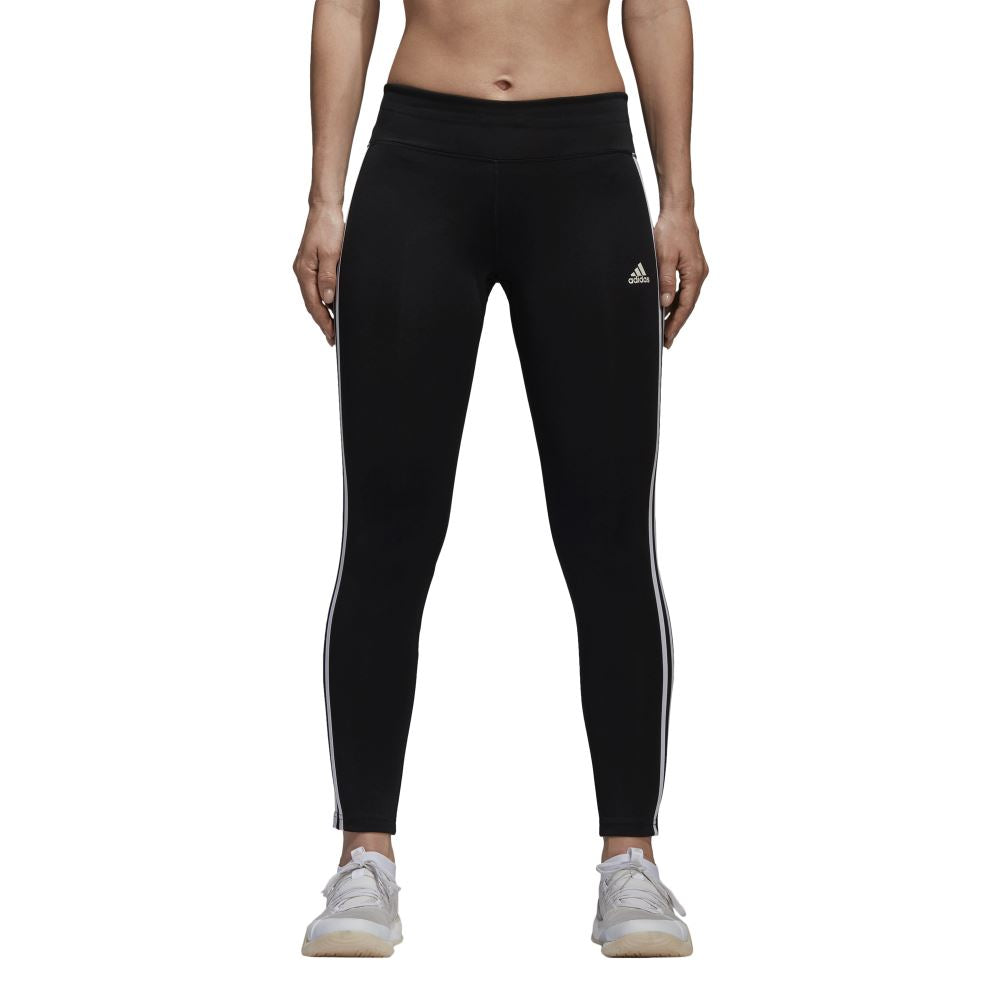 Adidas - Designed 2 Move Climalite 3-Stripes Tights - Black - Womens u2013 Stirling Sports