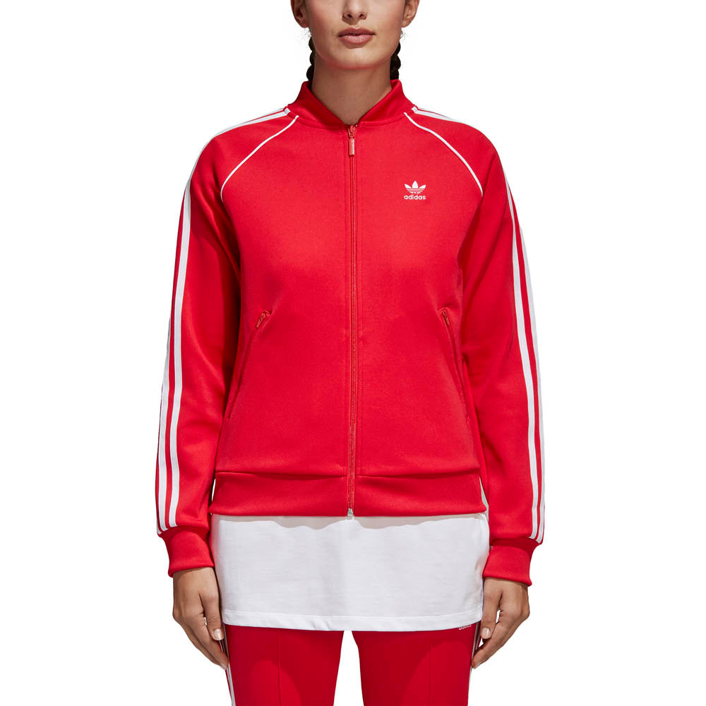 adidas originals sst track jacket red womens. Black Bedroom Furniture Sets. Home Design Ideas