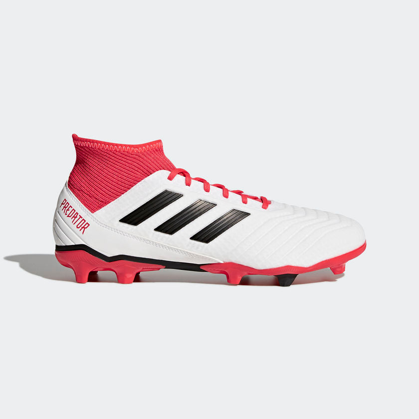 adidas - Predator 18.3 Firm Ground Boots - White - Mens