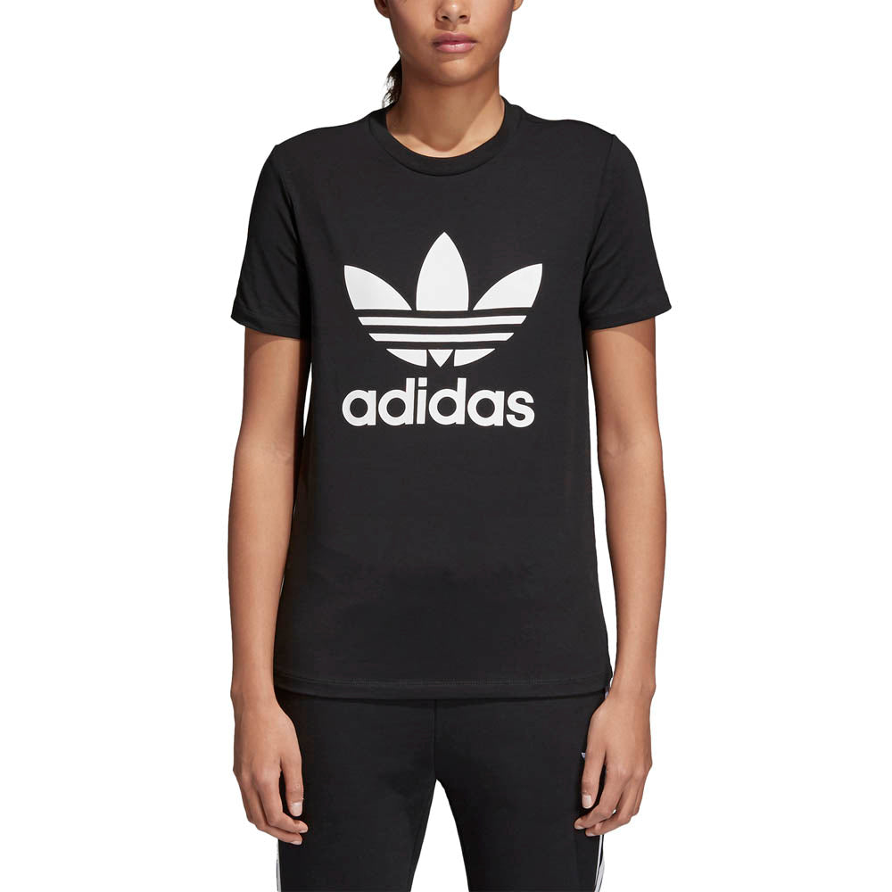 adidas originals trefoil tee black womens stirling sports. Black Bedroom Furniture Sets. Home Design Ideas