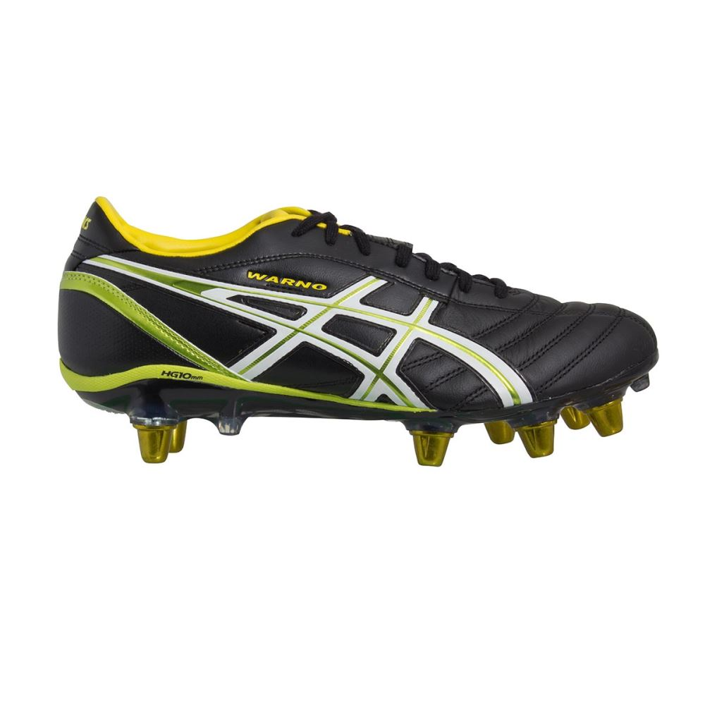 bf7a1c627996 ASICS LETHAL WARNO 3 Rugby Boots Mens Black