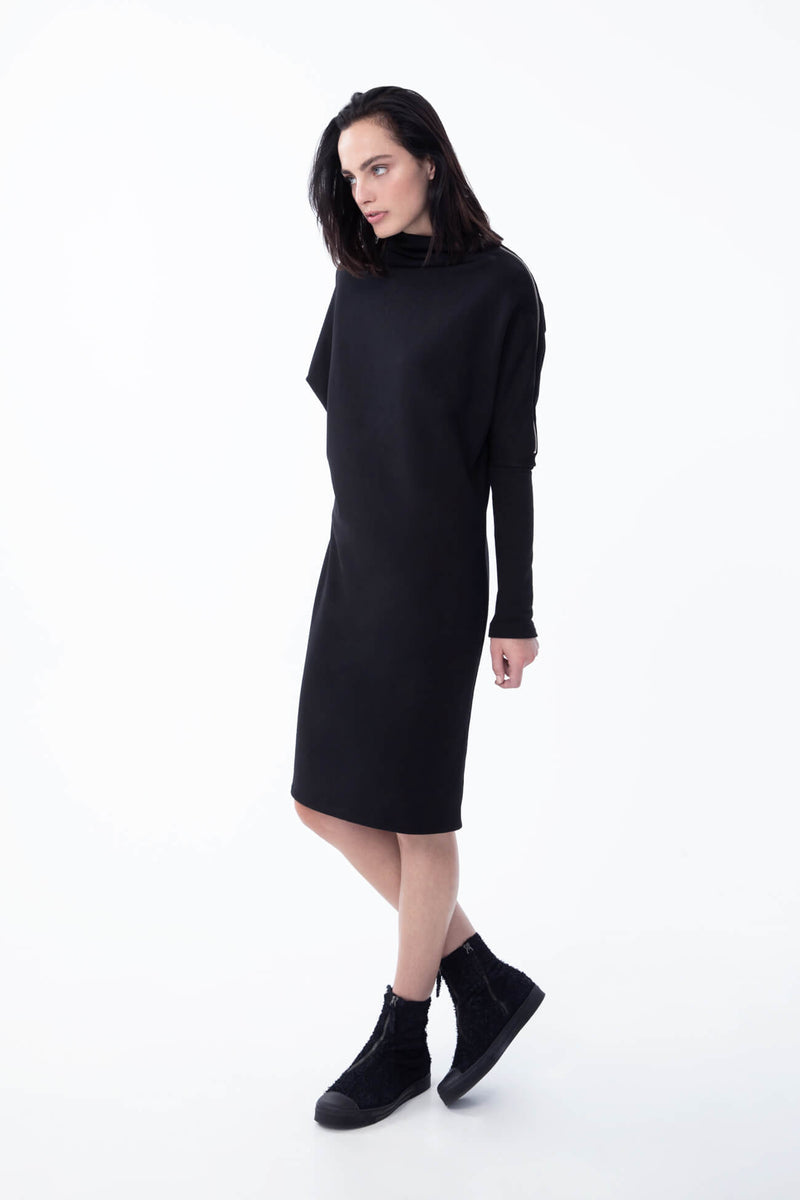 Marcellamoda-Black-Batwing-Sweater-Dress