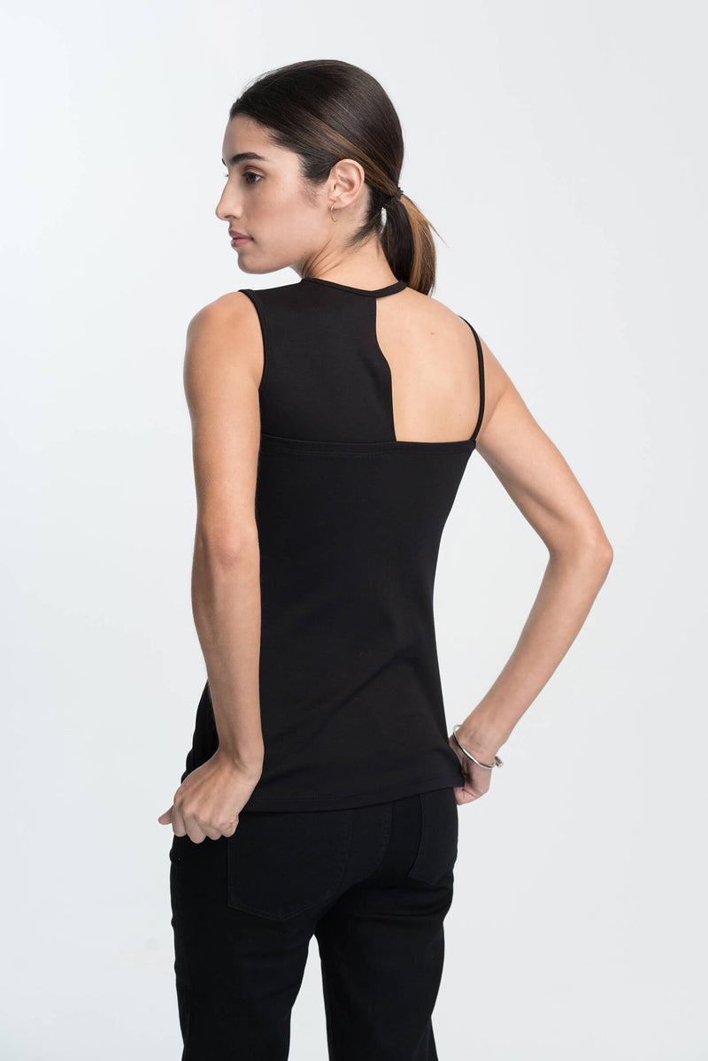 Marcellamoda-Black-Cocktail-Top-Back