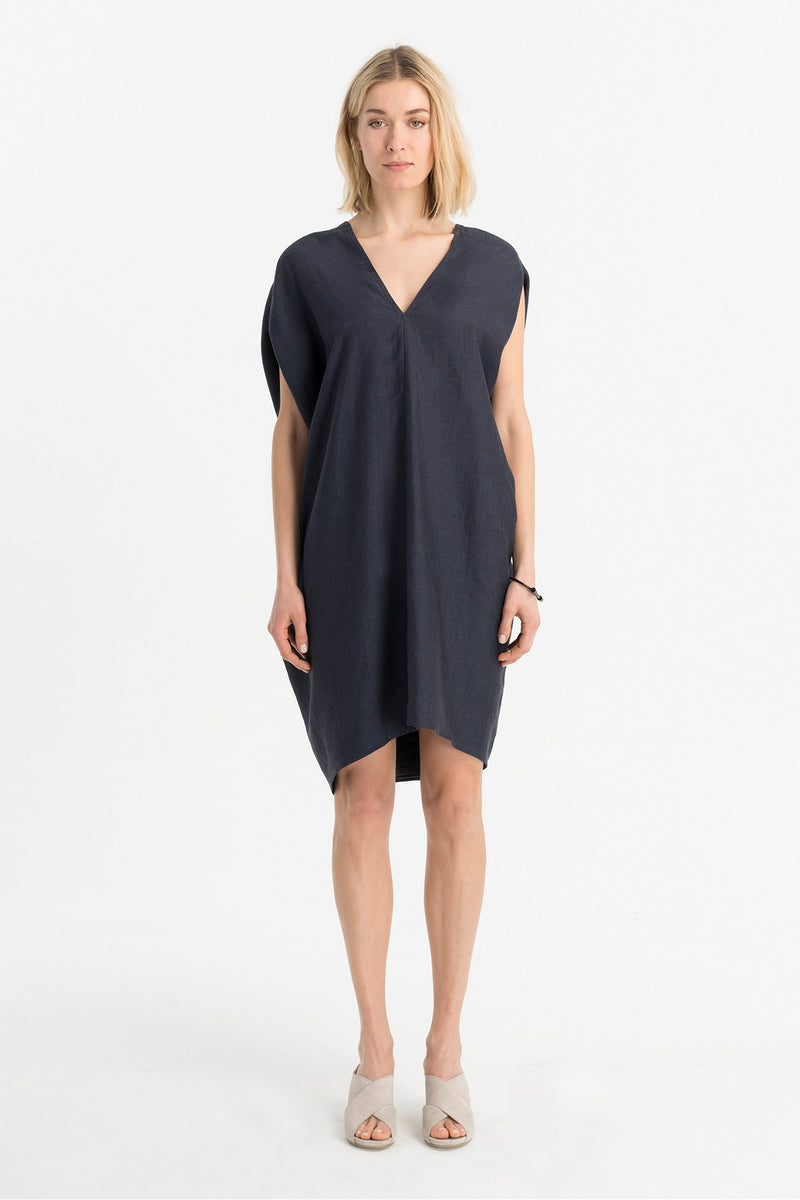 Marcellamoda-Indigo-Linen-Dress