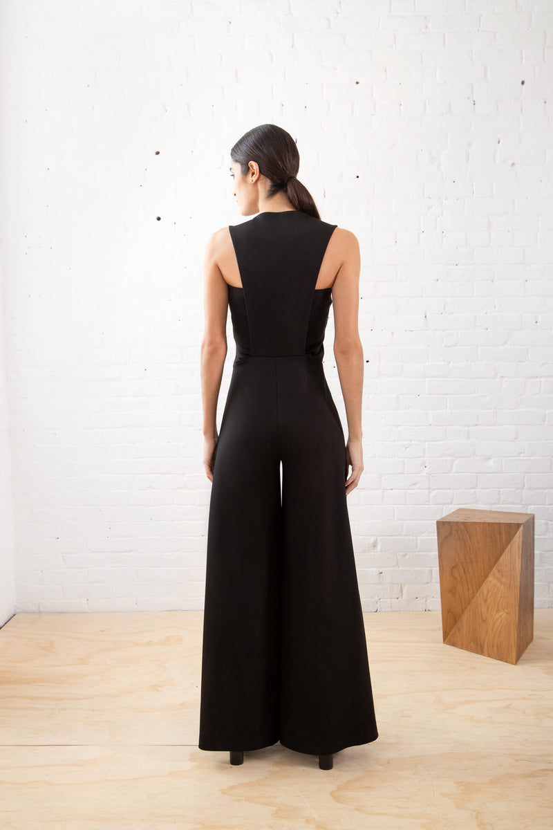 Square-Neck Pantsuit