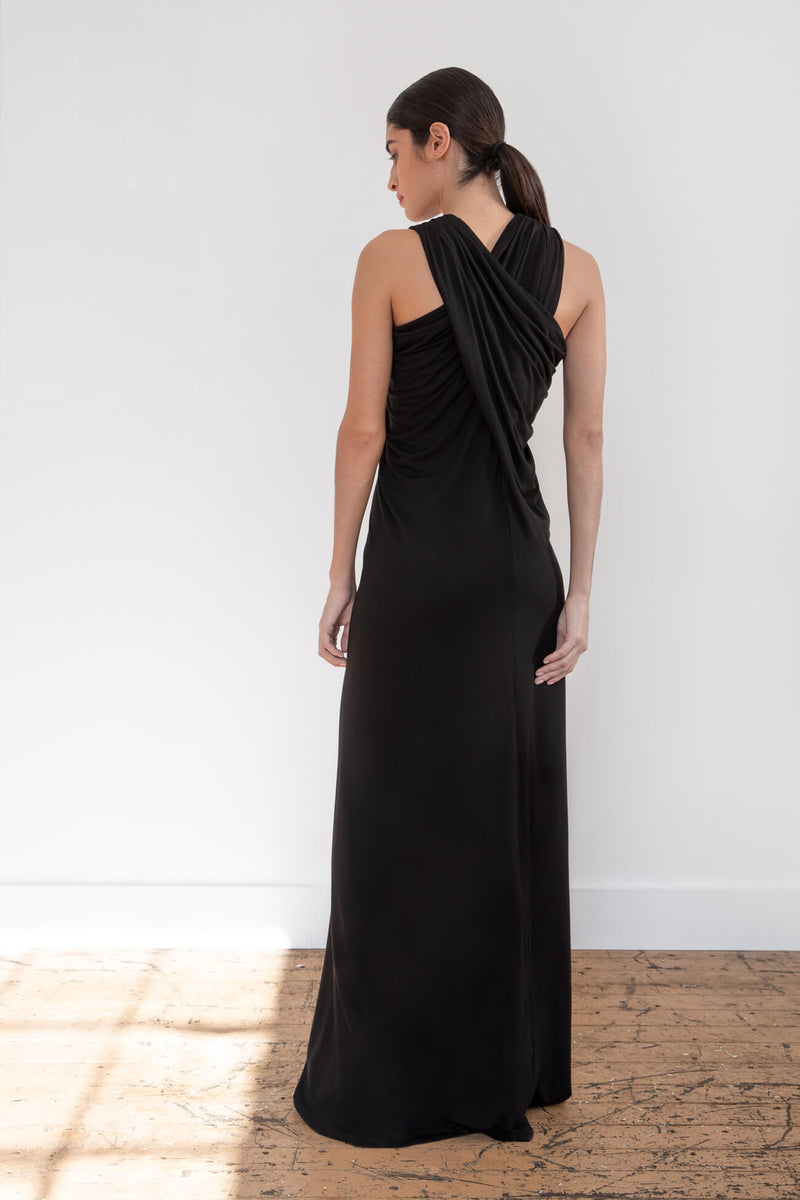 X-Back Maxi Dress Clothing Marcellamoda