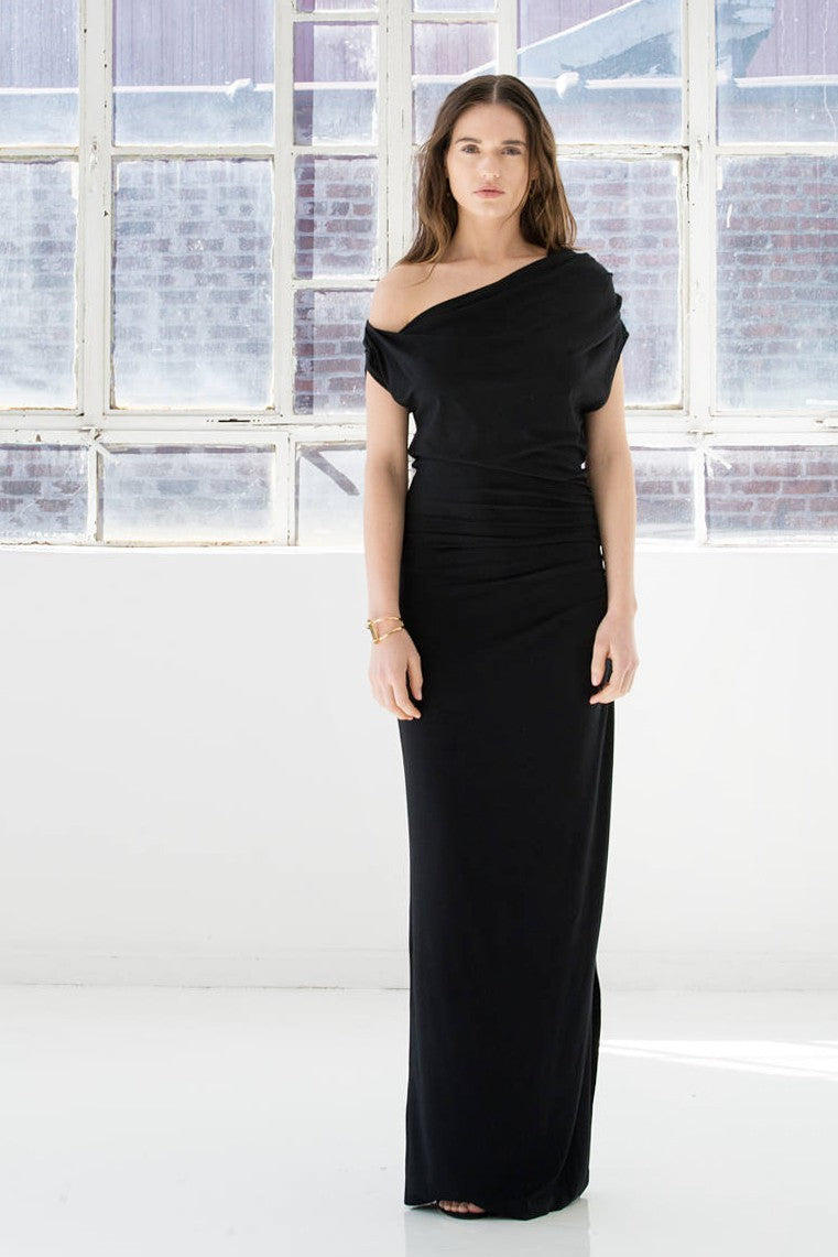 Marcellmoda-Black-Maxi-Evening-Dress