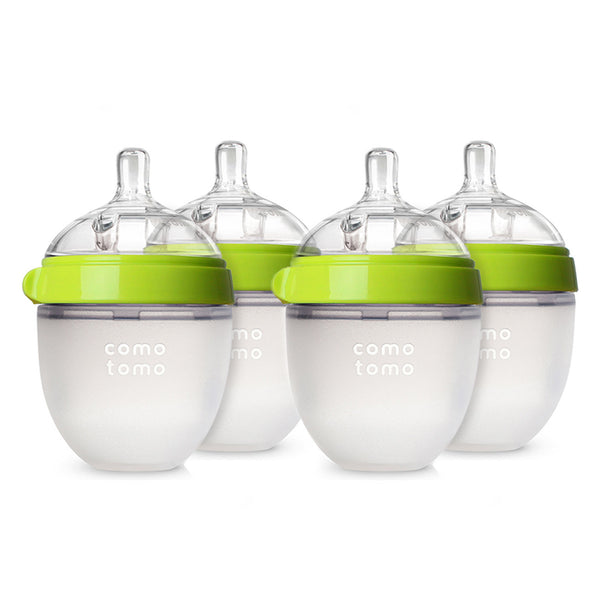 Comotomo Bottles - Natural Feel Bundle - Green, 5 oz., 4 Ct.