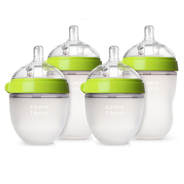 Comotomo Bottles - Natural Feel Bundle - Green, 5 oz. & 8 oz., 4 ct.
