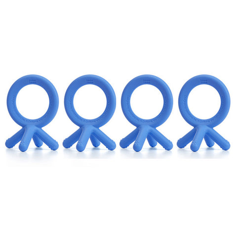 Comotomo Silicone Teether Bundle - 4 Pack: Blue