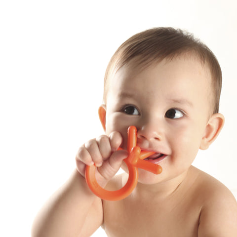 Comotomo Silicone Teether Bundle - 2 Pack: Orange